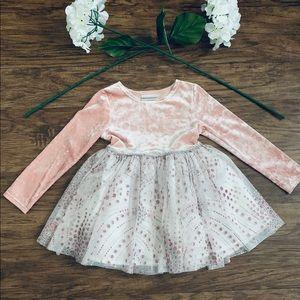 Girls Pink Glitter Dress Size 4T